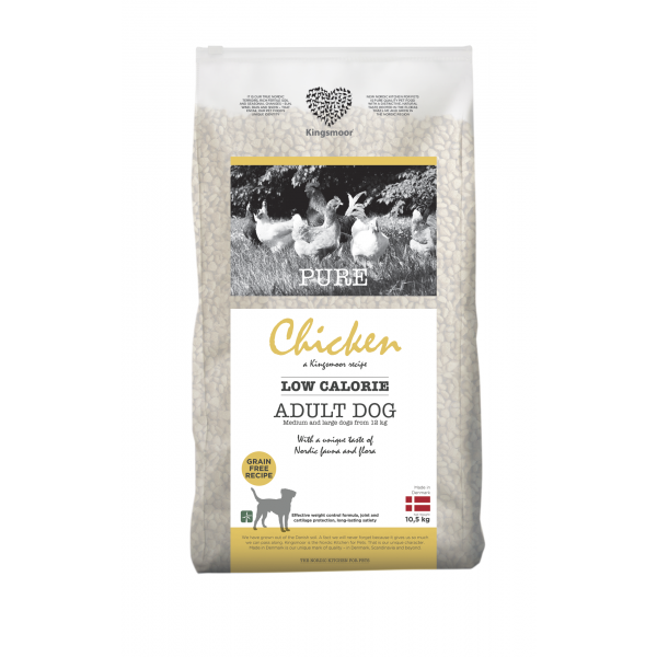 Pure Chicken Low calorie - Medium and large dogs, 10,5 kg