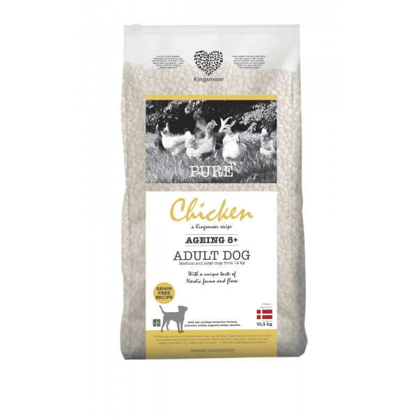 Pure Chicken Ageing 8+ - Medium and large dogs, 10,5 kg