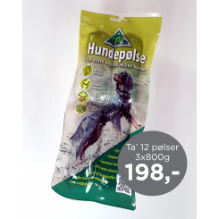 Kingsmoor Hundepølse, 800 g